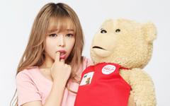 美女模特裴紫綺與泰迪熊情人節壁紙