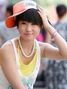 张筱雨甜美迷人清纯学生装