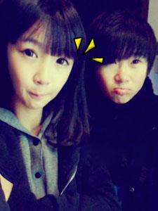 张依依和她男朋友甜蜜写照