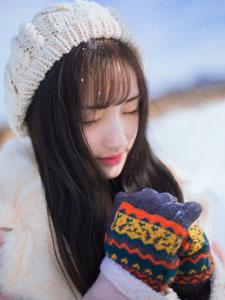 高晴雪地清纯唯美写真