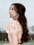 吴佩慈巴黎蕾丝花蕊公主裙高贵气质惊艳全场