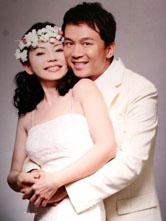 狄莺与老公甜蜜幸福婚纱照