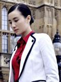 小宋佳秋季帅性出街装 摩登时尚优雅知性美