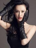 莫小棋蕾丝抹胸时尚写真 妙曼黑色精灵灵动迷人