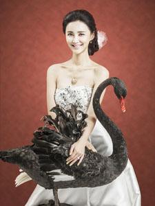 张歆艺奢华婚纱登杂志封面 高贵公主典雅唯美
