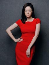 蒋欣红裙飘逸美艳动人