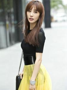 气质美女李菲儿时尚街拍
