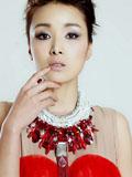 黄曼性感魅惑红裙写真
