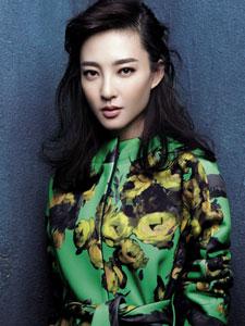 素颜女神王丽坤清丽绿装展霸气
