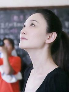 气质女明星李小冉云南关爱行动照片
