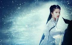 雨雪交加刘亦菲壁纸
