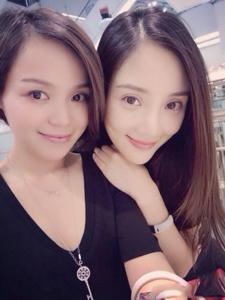 生活中的李小璐和她朋友合照
