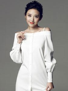 唐艺昕简约时尚写真大片 红唇搭配白衬衫柔婉俏丽