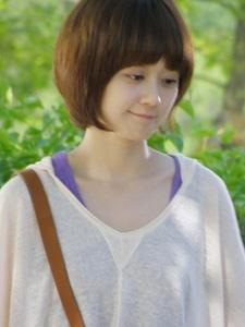 张娜拉甜美素颜女孩图片