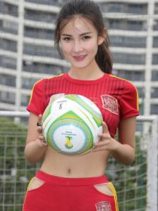 美臀美女朱韵淇足球宝贝写真