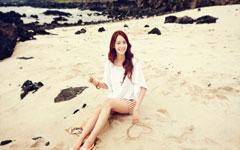 少女时代林允儿美女沙滩壁纸