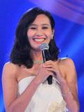 陈法拉白色抹胸裙性感出席星和无线电视大奖