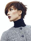 王珞丹炫酷写真优雅红唇时尚大气