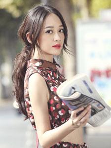 陈乔恩巴黎街头时尚写真 女神范十足
