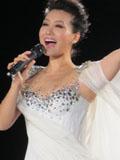 谭晶伦敦奥运会演唱会图片 白色纱裙优雅迷人