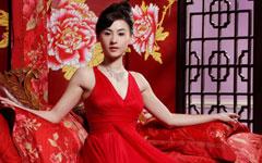 红色晚礼服张柏芝美艳壁纸