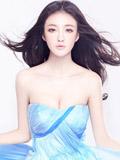 女星刘雨欣清新形象演绎灵动蓝色女神