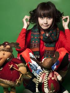甜美精灵张佳宁圣诞喜庆萝莉写真
