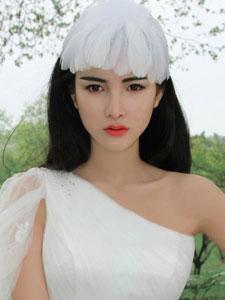 朱韵淇白色婚纱美艳动人