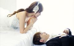 尼坤宋茜甜蜜婚纱照桌面壁纸