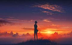 宁静的夕阳高清大图壁纸