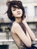 美女林鹏法式礼服风情写真 优雅魅影气质迷人