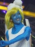 谢娜惊悚蓝精灵造型颠覆童年梦想