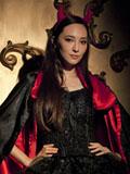 吴佩慈万圣节魅惑魔女公主装写真