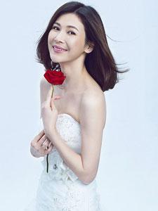 童蕾唯美婚纱写真 幸福笑容全在脸上