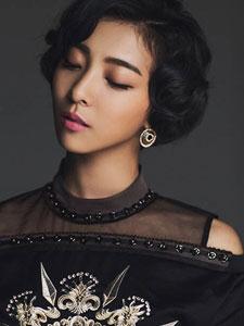 fx组合Luna时尚画报写真 气质短发魅力十足