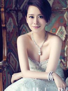 海清短发唯美婚纱写真 潇洒女人的动情瞬间