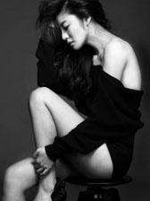 安以轩最新时尚性感大片 黑白色调秀傲人身材