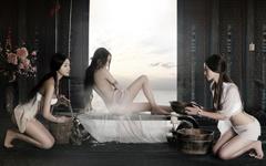 《铜雀台》张馨予沐浴壁纸